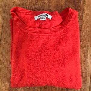 Forever 21 Sweaters - ❗️SOLD❗️ Forever 21 Red Orange Sweater